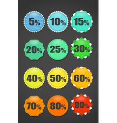 Different sale paper stickers collection vector image