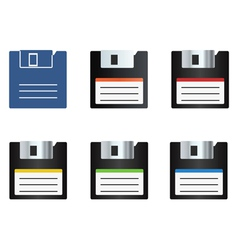 Diskette icons set vector