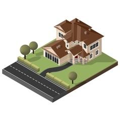 American Cottage villa vector image vector image