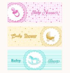 Baby shower banner set design vector image