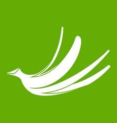 banana peel icon green vector image vector image