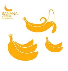 Banana Set vector image vector image