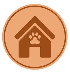 Doghouse bronze coin vector
