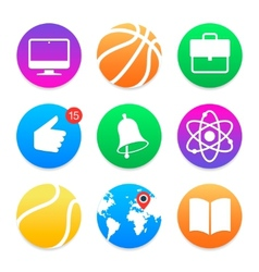 Education icons School symbols set vector image