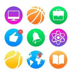 Education icons School symbols set vector image vector image