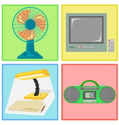 electronic set vector image