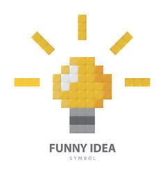 Funny idea symbol vector