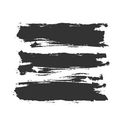 grunge smeared paint or ink brush strokes vector image