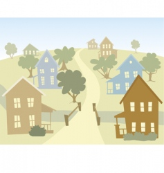 happy village vector image