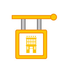 hotel hanging sign isolated icon vector image vector image
