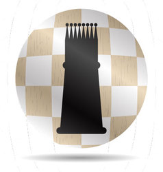 Icon chess king vector image