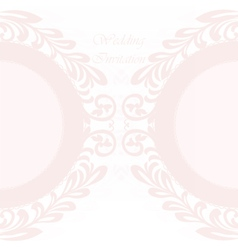invitation card ornamental lace vector image vector image