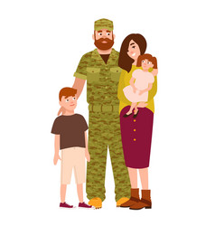 military man serviceman or soldier dressed in vector image vector image