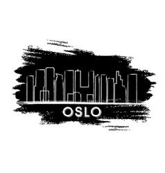 oslo skyline silhouette hand drawn sketch vector image vector image