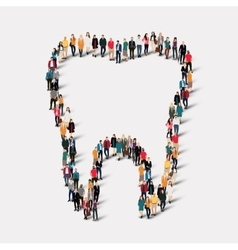 people shape tooth dental vector image