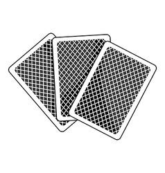 Poker face idiom vector
