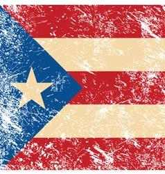 Puerto rico retro flag vector