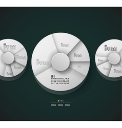 Radial diagram design template vector image