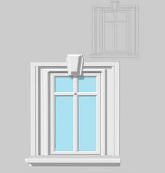 rectangular window vector image