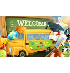 Road to school background vector image vector image