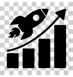 Rocket Startup Chart Icon vector image vector image