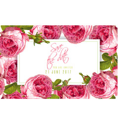 rose wedding invitation vector image