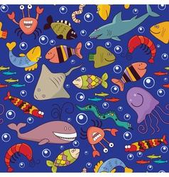 Seamless underwater wildlife vector image vector image