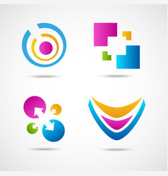 Set of colorful icons vector