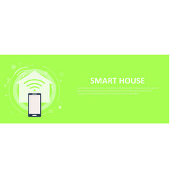 smart house banner vector image