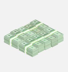 stacks of one hundred dollar bills vector image