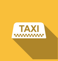Taxi car roof sign icon isolated with long shadow vector