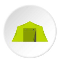 Tent icon circle vector