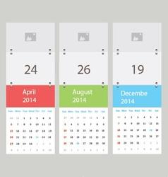 Three calendar vector image vector image