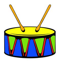Toy drum icon icon cartoon vector