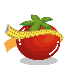 Vegetables with tape measure vector