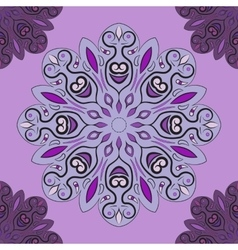 Violet seamless pattern with flowery vector image vector image