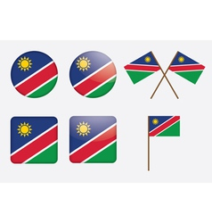 Badges with flag of namibia vector