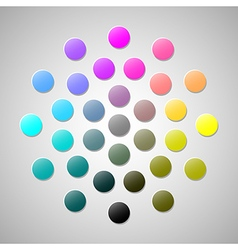 Cmyk colors 2 vector