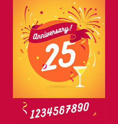 Anniversary happy holiday festive celebration vector