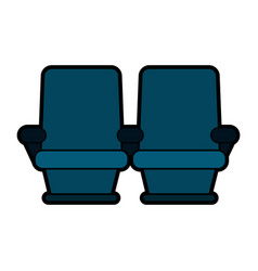 theater seats icon image vector image
