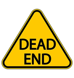Dead end sign vector