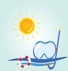 beach stuff icon cartoon vector image