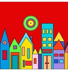 City and urban with houses vector