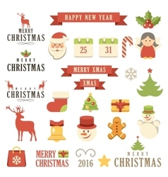 Christmas set vector