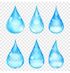 Transparent drops vector
