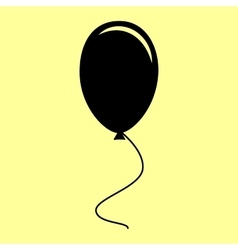 Balloon sign flat style icon vector