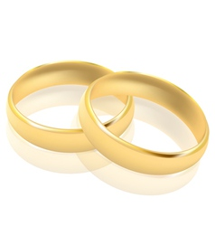 Gold rings vector