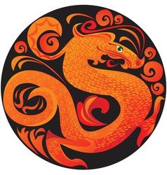 dragon in circle vector image