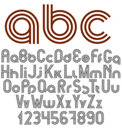 Alphabet letters numbers and punctuation marks vector image