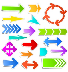 Colourful arrow stickers vector